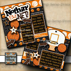 BASKETBALL 2 pre made SCRAPBOOK pages paper piecing girl or boy DIGISCRAP A0079