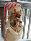 FoLk Art PrimiTive WinTer ChrisTmas Tree SNOWMAN DOLL CounTry HearT STAR Decor