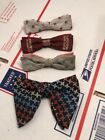 Lot of 4 Vintage Mens Bow Tie Clip On 40s 50s Ormond Snapper