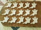 pRiMiTiVe Wool Felt Die Cut Shapes~Penny Rug~Applique~15 Small White Ghosts~