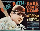 1927 Babe Ruth Comes Home Movie Lobby Poster Vintage New York Yankees Baseball