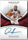 DENNIS RODMAN 2016 PANINI IMMACULATE COLLECTION AUTO AUTOGRAPH CARD #7 99!