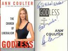 2006 ANN COULTER SIGNED INSCRIBED GODLESS HCDJ 1st EDITION