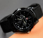 Canvas Analog New Fashion Trendy Sport Military Style Wrist Watch For Men