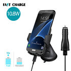 USA Qi Wireless Fast Charger Car Holder Cradle Mount For Samsung S8+ iPhone 8 X