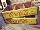 's Yellow Coke Coca Cola Wood Soda Crates