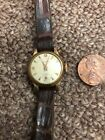 Vintage Women's Lanco Watch Gold Tone Wind Up Running Swiss Made