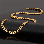 Zilver Mens 18K Stamped Gold Plated 4mm To 8mm Cuban Necklace Chain 24 30 36Inch