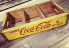 Vintage 1964 Near Mint Yellow Coke Coca Cola Wood Soda Crate #170