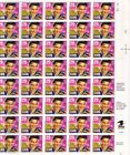 2721 29c ELVIS COMMEMORATIVE PANE OF 40 POSTAGE STAMPS BELOW FACE VALUE