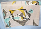 Vintage rare mid century modern atomic satelite abstract fabric pillow cover!