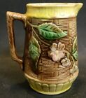 Brown Majolica Tree Branch Design Pitcher 5