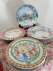 222 FIFTH STONEWARE TWELVE DAYS OF CHRISTMAS PLATES -EXCELLENT CONDITION