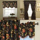 Window Valance Noir by Waverly 10982050X015NO Felicite 50 Inch by 15 Inch New