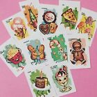 Food Stickers Vintage Style Anthropomorphic Candy Planner Stickers Set of 22