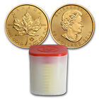 BANK WIRE. 2018 Canada 1 oz Gold Maple Leaf Coin (Lot of 10)
