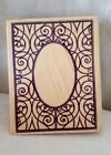 New LG Swirl Scroll Wood Mounted Rubber Stamp Scrap booking Crafts Art Hobby