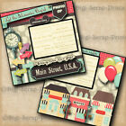 DISNEY MAINSTREET USA 2 premade scrapbook pages paper layout 4 album DIGISCRAP