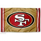 SAN FRANCISCO 49ERS GOLD FLAG 3X5 NFL LOGO BANNER FAST FREE SHIPPING