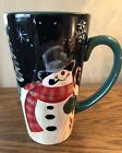 Geoffrey Allen Christmas Design Tall Late, Hot Cocoa Ceramic Mug ~ NEW, UNUSED