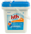 hth Super 3 Swimming Pool 4 in 1 Chlorinating Chlorine Tablets 20 lbs