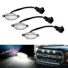 3pcs Clear 12 SMD Xenon White LED Front Grille Running Lights For Ford Raptor