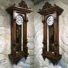 VTG VIENNA REGULATOR GEBR RESCH REMEMBER STRIKE PENDULUM CLOCK 2 BRASS WEIGHS