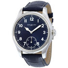 NEW! MontBlanc 113702 1858 Blue Dial Leather Watch