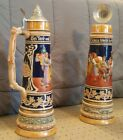 GERMENA STEIN - Lidded , painted floral and leaf patterned designs, gilt lined w