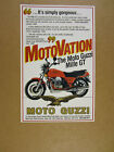 1990 Moto Guzzi Mille GT motorcycle photo vintage print Ad
