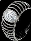CHOPARD LADIES DIAMOND CUFF 18K WATCH 36MM WIDE NEW B&P