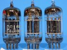 SET OF 3 VINTAGE RCA 5751 BLACK PLATE 3 MICA TUBES FROM 1957 12AX7