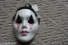 SMALL CLAY ART MASK mime, clown mask