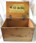 KKK Dr Machins Powder Farm Animals IOWA Wood Crate Box Sign Advertising Antique