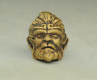 chinese old brass carving Sun Wukong head statue