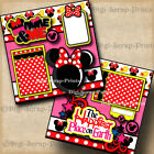 DISNEY MINNIE MOUSE  ME 2 premade scrapbook pages paper piecing DIGISCRAP