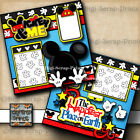 DISNEY MICKEY MOUSE  ME 2 premade scrapbook pages paper piecing DIGISCRAP