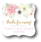 24 Boho Girl Baby Shower Thank you Favor Tag Personalized name and date