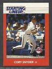 1988 Kenner Starting Lineup Baseball Card - Cory Snyder - Cleveland Indians