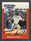 1988 Kenner Starting Lineup Baseball Card - Pete Incaviglia - Texas Rangers