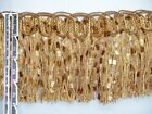 4 14 Confetti Tassel Fringe Trim Gold Brown Burgundy Salmon Sold By Yard