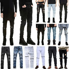 Mens Skinny Jeans Biker Slim Fit Trousers Boy Designed Denim Straight Long Pants