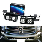 40W CREE LED Pods w Lower Bumper Mounting Bracket For 09 18 Dodge RAM 2500 3500