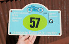 VINTAGE RALLY SIGN / PLAQUE # 5. INT. BMW RALLY GRIESBACH IM ROTTAL 1981 NO. 57
