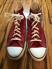 Red Converse All Star Chuck Taylor High Tops Made In USA Size 12Lightly used