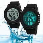 Men's Waterproof LED Digital Military Date Silicone Watch Analog Wrist Watches