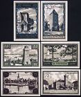 "NEUSTETTIN 1921 ""Castle, Scenic Views"" complete series German Notgeld"