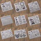 Flowers Transparent Clear Silicone Stamp Seal DIY Scrapbooking Photo Album Craft