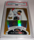 PSA9 2008 Topps Finest Clay Buchholz rookie Gold Refractor Auto Autograph #40 50