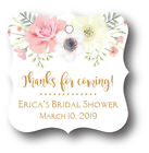 24 Boho Floral Bridal Shower Thank you Favor Tag Personalized name and date